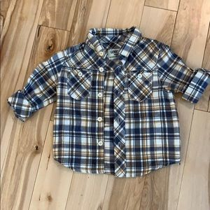 Osh Kosh checkered toddler button up